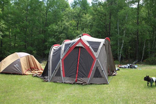 1.テント張り中