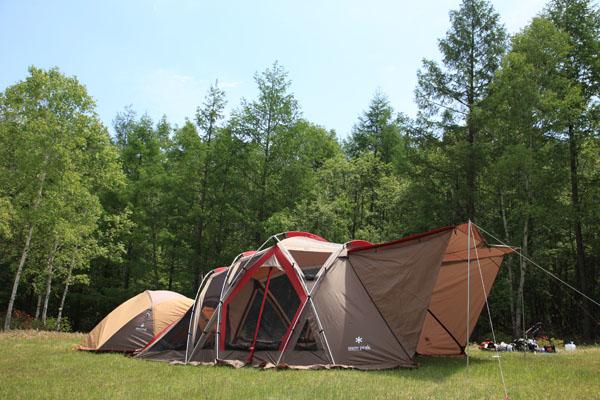 2.テント張り完成