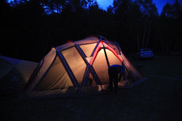 5.夜のテント